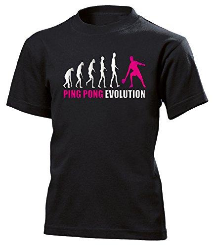 (Ping Pong Evolution Sport 690 Shirt Tshirt Fanartikel Fanshirt Kids Jungen Mädchen Unisex Sportbekleidung Kinder T-Shirts Schwarz Aufdruck Pink 152)