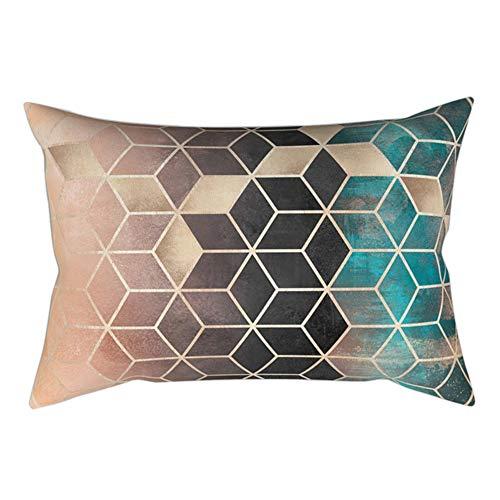 Amesii - Funda de cojín para sofá, diseño geométrico Moderno, 30 x...