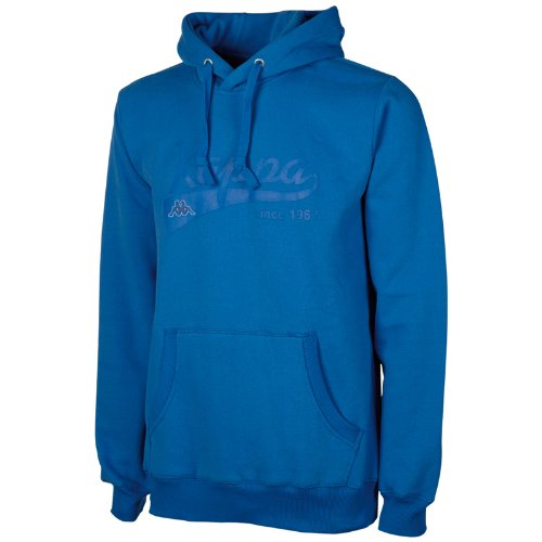 Kappa, Felpa unisex con cappuccio Blu (Monaco Blue)