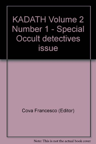 KADATH Volume 2 Number 1 - Special Occult detectives issue
