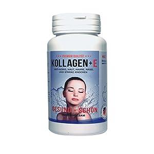 Premium Beauty Kollagen 600mg • 100% reines Kollagen Hydrolysat • 620mg MCC Vivapur (Zink,VitamineB12/E) • Mit Vitamin E 15mg • Haut,Haare,Nägel,Gelenke