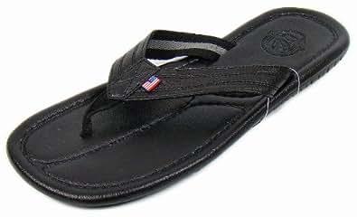 US Polo Assn Men's 2912V Black Casual Slippers - 6