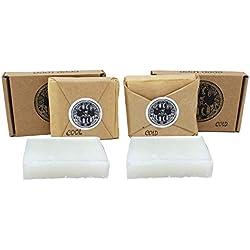 Dirtbusters Coco Loco Surf Cire Froide et l'eau froide 2x 75g de noix de coco Parfum Surfer sur planche de surf Wax Lot SE Compose de 1froid et 1Cool Cire
