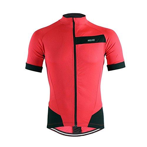 M.Baxter Sommer Fahrradbekleidung Herren Fahrradtrikot Kurzarm Sportbekleidung Full-zip Radsport Jersey Team Shirt Fitness (Fahrradbekleidung Wolle)