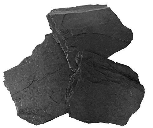 Schwarzer Schieferbruch, naturbelassen, für Aquarium, Vivarium, für Höhlen, Schutzdach, 10kg