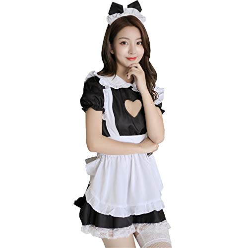 Cosplay Maid Uniformen Porno Sex Kostüme Sexy Dessous Hot Lace Maid Outfit Frauen Erotische Unterwäsche Babydoll Kleid Nachtwäsche, Bildfarbe, eine Größe passt alle