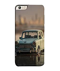 FUSON Designer Back Case Cover for Micromax Canvas Knight 2 E471 (Black Car Highway Luxury Lamborghini)