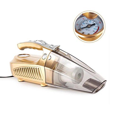 Lange Netzkabel Trockner (SUMHE Auto-Staubsauger-Handaufblasbarer Autoreifen Manometer, Der LED Nasses / Trockenes DC12V 100W Mit Linie 4.2M Beleuchtet,Gold,M)