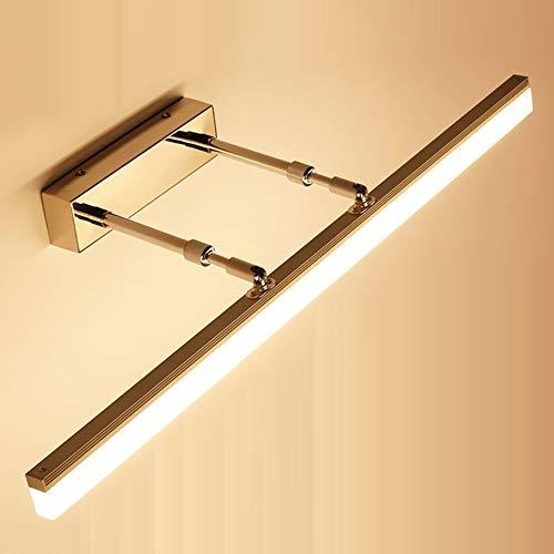 beleuchtet Befestigungen, justierbare Edelstahl-Spiegel-Wand-Moderne Badezimmer-Eitelkeits-Spiegel-Lampe für Make-up-Eitelkeits-Frisierkommode,Gold ()