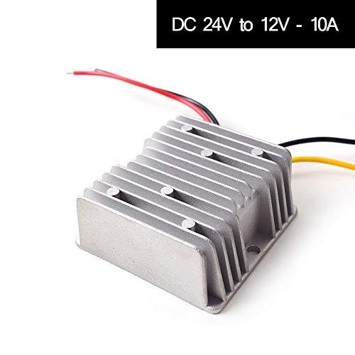 Auto DC 24V auf 12V Spannungswandler 10A 120W Transformator Wandler Konverter Trafo Adapter für Auto Motor PKW LKW Kfz Boot Fahrzeug Solar System etc.(DC15-40V Eingänge) Dc-10-auto