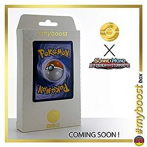 Alola-Geowaz-GX (Golem de Alola-GX) 102/111 Full Art - #myboost X Sonne & Mond 4 Aufziehen Der Sturmröte - Box de 10 Cartas Pokémon Aleman