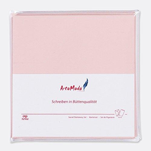 h Farbe: Pink || 10x Klappkarten und 10x Briefumschläge aus der Serie Artoz 1001 vereint im SET ArtoModo inklusiver praktischer Aufbewahrungshülle aus stabilem Kunststoff || Format: 160 x 160 mm (Einfache Halloween-karten)