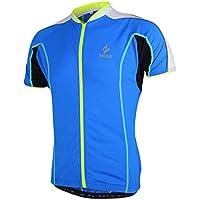 MaMaison007 Arsuxeo per bici bicicletta Top abbigliamento breve maschile maniche ciclismo maglia Sportswear - M blu