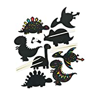 Dinosaur Scratch Art Magnets (Pack of 10)
