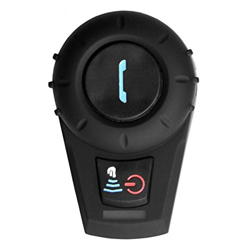 Freedconn FDC01 Moto Intercom Oreillette Bluetooth Plug Casque de Moto Interphone 500M Noir EU