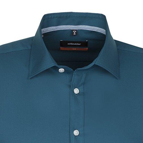 Seidensticker -  Camicia classiche  - Classico  - Maniche lunghe  - Uomo petrol (0079)