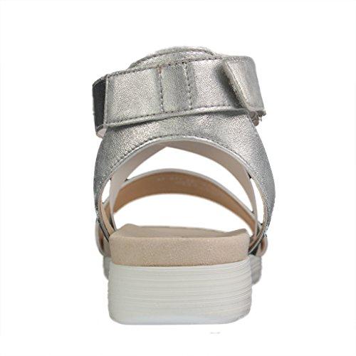 Grau Gabor Schuhe Silber 65 Sandalen In 521 Damen Übergrößen Metallic 8xPUwqS8