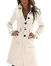 Zicac-manteau vintage slim manches longue femme pour l`automne et l`hiver