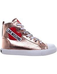 Love Moschino Scarpe Donna Sneakers Alte Sca Nod Gomma 30 Lamin Pu Rame  Nuove 22b2043576b
