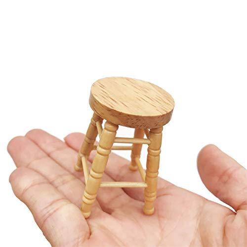 Auto-Modell Plüsch Bildung Squishy Spielzeug aufblasbares Spielzeug im Freien Spielzeug,1/12 Mini Puppenhaus Möbel Miniatur Hocker Holz Farbe Wohnzimmer Spielzeug