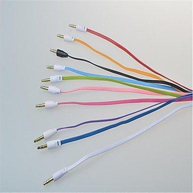 ker auf Stecker Farbe kleine Nudeln Audio-Verbindungskabel Flachtyp (1m), Purple ()