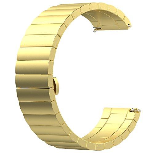 Uhrenarmbänder 16mm Ersatz Uhrenarmbänder 16mm Herren Damen Gold Edelstahl Metall Armband Armband für Uhr
