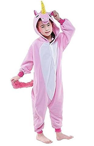 Costumes Fille Unicorn - Cliont Enfants Animal Licorne Pyjamas Kigurumi Costume