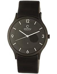 Obaku Harmony V132X BBRB - Reloj de caballero de cuarzo, correa de piel color negro