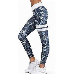 Leggings sportivi elasticizzati e traspiranti per le donne, LILICAT Fitness Leggings Yoga a vita alta sportivi, pantaloni sportivi (Multicolore, M)