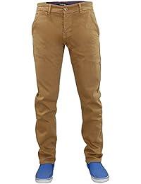 Firetrap Fire Trap New Mens Slim Fit Chinos Stretch Cotton Twill Trousers Denim Pants