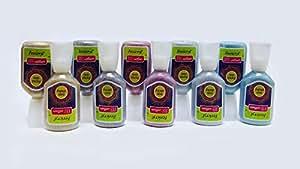 PIDILITE FEVICRYL 3D OUTLINER KIT for Artist (10 Glitter Colors - 3 Gold, 3 Silver, 1 Rangoli, 2 Pink,1 Blue