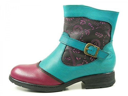 Laura Vita Alix 28 LMD1618-28 Damen Chelsea Boots Stiefeletten Violett