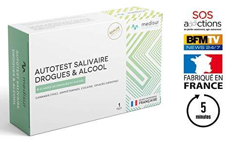 TEST SALIVAIRE DE DÉTECTION MULTI-DROGUES 28 EN 1 - TEST FRANÇAIS - RÉSULTAT EN 5 MINUTES -...