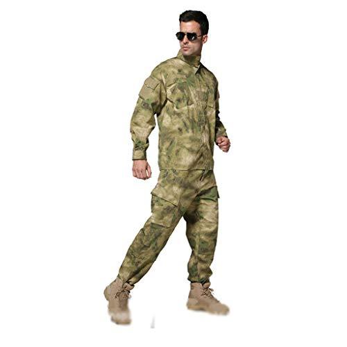 XXHDYR Camouflage 2-Piece Anzug für Dschungeljagd für Herren Tarnen (Color : Desert, Size : XS/165-170/60kg) -