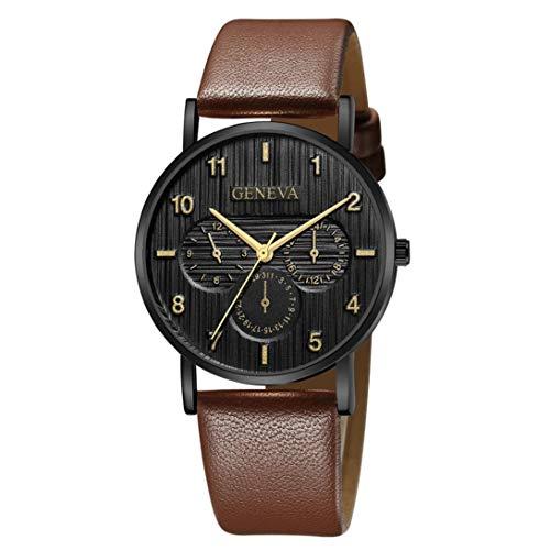 Kinlene Damen Uhr Frauen Luxusmarke Casual Genf Quarzuhr Lederband Armbanduhr Urhen