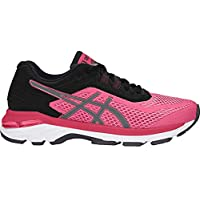 ASICS Womens GT-2000 6 Running Shoe, Bright Rose/Black/White, 6.5 B(M) US