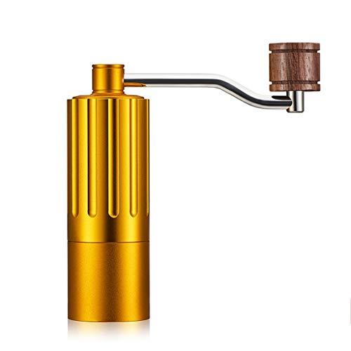 Coffee grinder Manuelle Kaffeemühlen Kaffeemühle Aluminiumlegierung Tragbare Dauerhafte Manuelle Kaffeemühle Reise Tragbare Arbeitssparende Kaffeemühle (Color : Gold, Size : 15 * 4.6cm) Gold Coffee Grinder