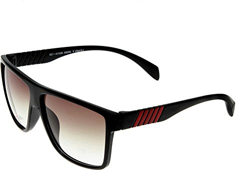Elijaah Black Large UnisexRectangular Sunglasses 39065_Blackgreen