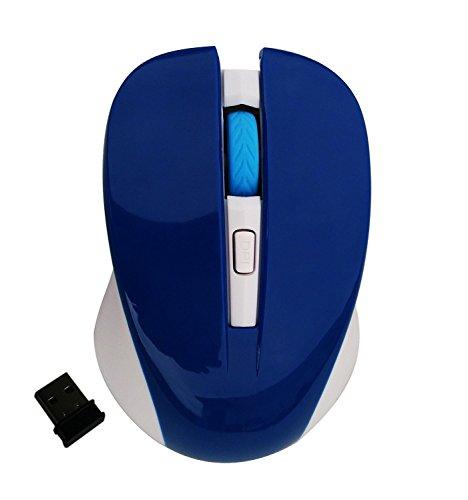 Preisvergleich Produktbild 2.4G Optische Wireless Gaming Maus mit verstellbaren 2500 DPI,  4-Tasten, USB Nano Receiver f¨¹r Gamer Pro Office Home