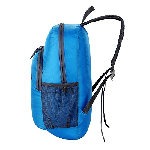 Giant ANT 18l zaino impermeabile leggero e pieghevole Packable zaino e pratico zaino da viaggio–per campeggio, escursionismo, arrampicata, Orange Blue