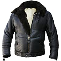 kanaljacke winter-version Nero, in pelle di