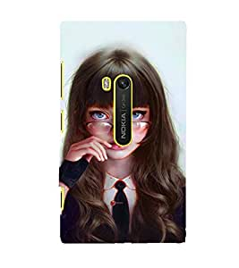 FUSON Silly Girl With Glasses 3D Hard Polycarbonate Designer Back Case Cover for Nokia Lumia 920 :: Micosoft Lumia 920