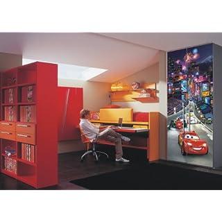 AG Design FTDv 0280 Cars Disney McQueen, Papier Fototapete Kinderzimmer - 90x202 cm - 1 Teil, Papier, Multicolor, 0,1 x 90 x 202 cm