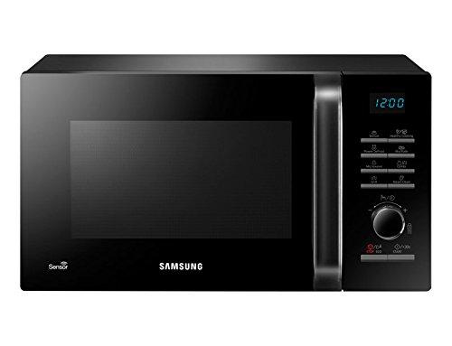 Samsung mg23h3125nk/EC-Four micro-ondes avec grill de 23l, intérieur de céramique, Display et capteur d'humidité, 1200W, couleur noir
