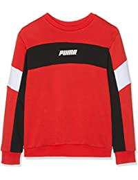 Puma Rebel Crew Sweat B Sudadera, Niños, Rojo (High Risk Red),