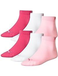 PUMA Unisex Invisible Quarter Quarters Sportsocken Kurz Socken 6 Paar 251015, Sockengröße:35-38;Artikel:-422 pink lady