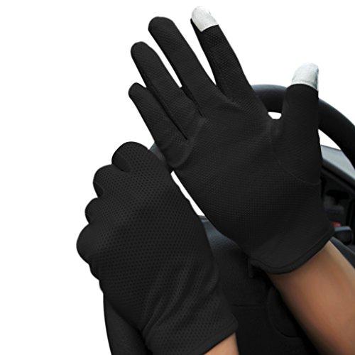 JIAHG Herren Sommer Fahrradhandschuhe Männer Touchscreen Handschuhe Anti-Rutsch, Anti-UV Schutz, Dünn Sonnenschutz Fäustlinge Gloves für Fahren Golf Outdoor Motorrad Radfahren
