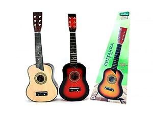 Globo Juguetes Globo-3605463cm Legnoland Guitarra de Madera con 6Cuerdas