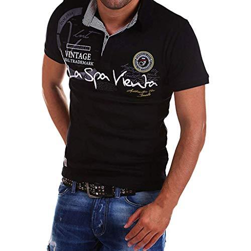 Sonnena Herren Drucken Poloshirt Kurzarm Slim Fit Sommer Revers t Shirt männer Casual Polo Shirts mit Brusttasch Polokragen Polohemd Dünne Kurze Freizeit T-Shirt Casual Top