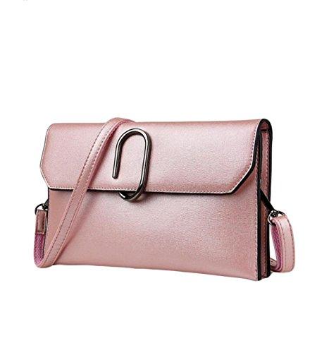 Tracolla Della Borsa Piccola Borsa Messenger Bag Pacchetto Di Ammissione Sacchetto A Chiusura Della Signora Di Modo I Regali Di Natale Pink
